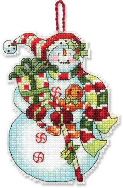 Beautiful Dimensions Snowman with Sweets Christmas ornament Cross Stitch Christmas ornament Kits Of Gorgeous 46 Models Cross Stitch Christmas ornament Kits