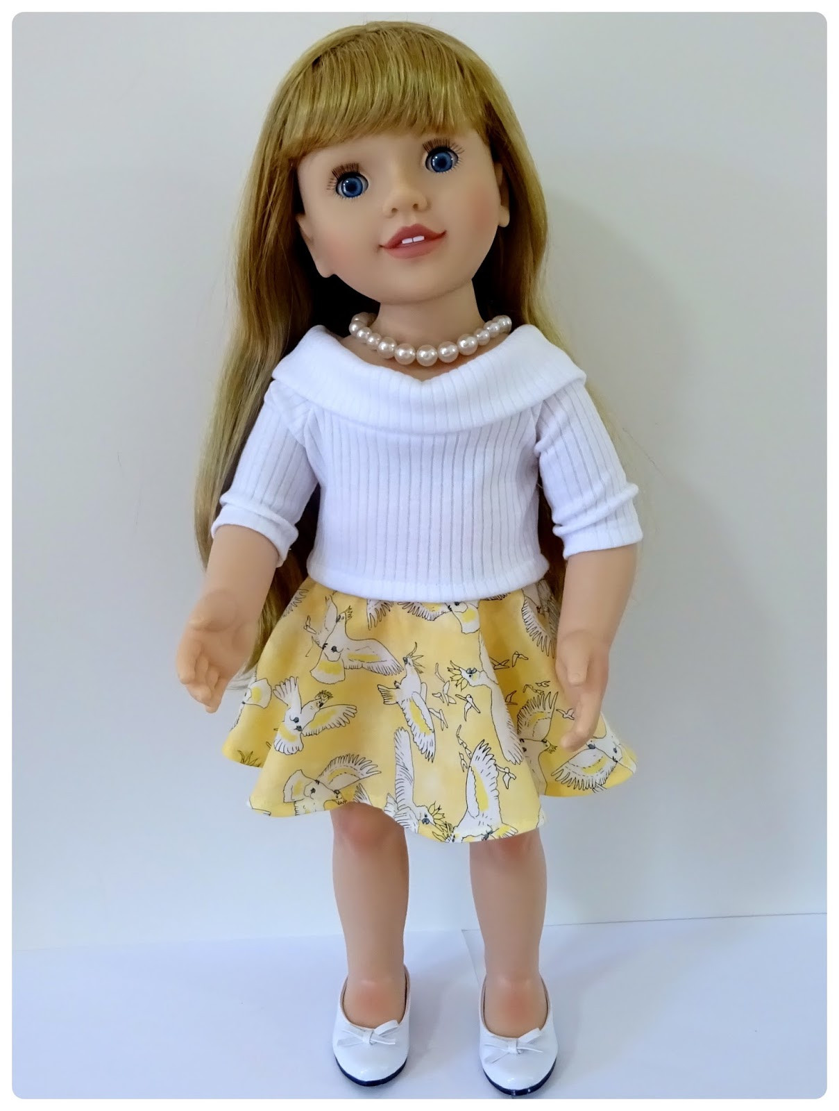 Doll Clothes Patterns by Valspierssews Skater Skirt Doll