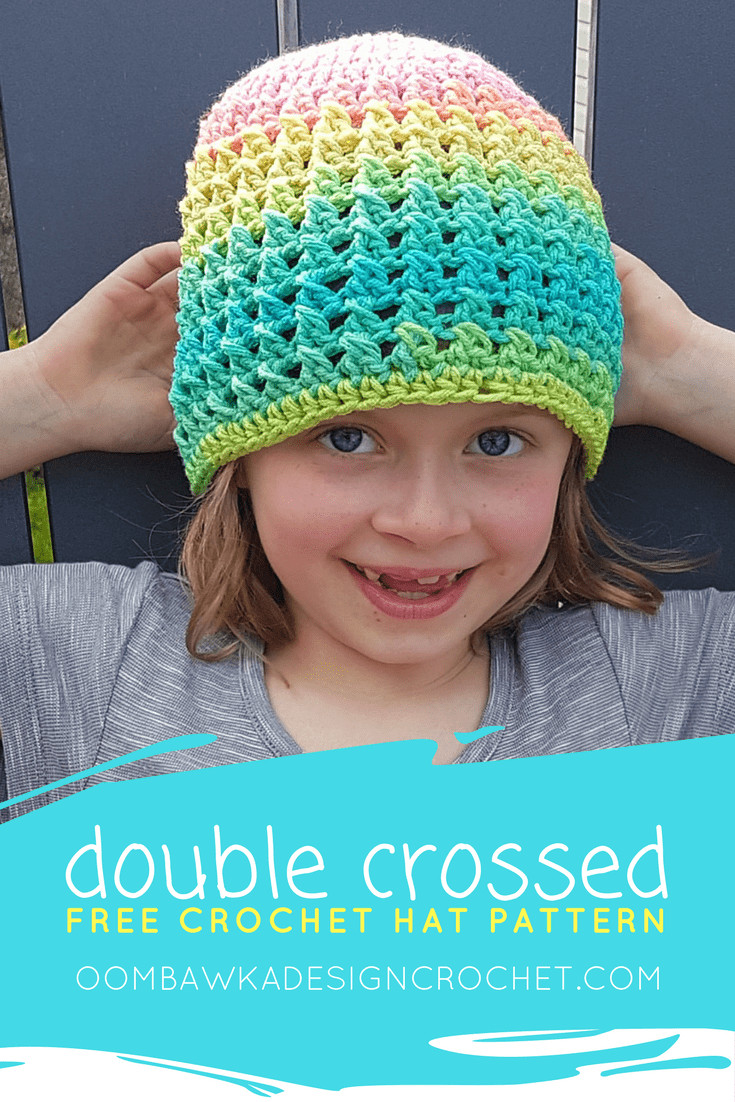 Beautiful Double Crossed Hat Pattern A Free Crochet Pattern In 11 Double Crochet Hat Of Great 43 Models Double Crochet Hat