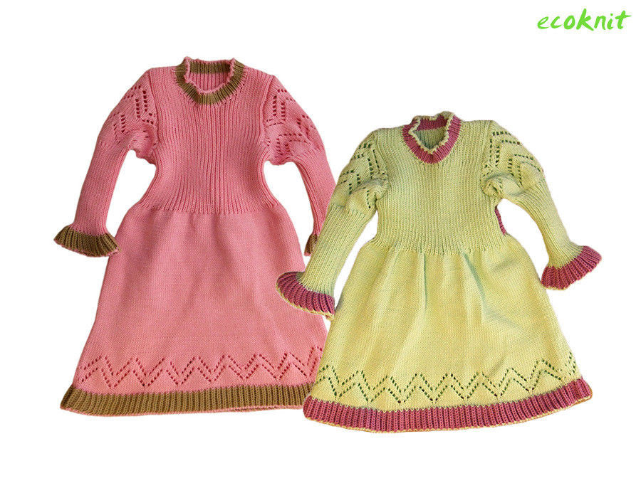 Dress MERINO WOOL baby toddler girl warm winter