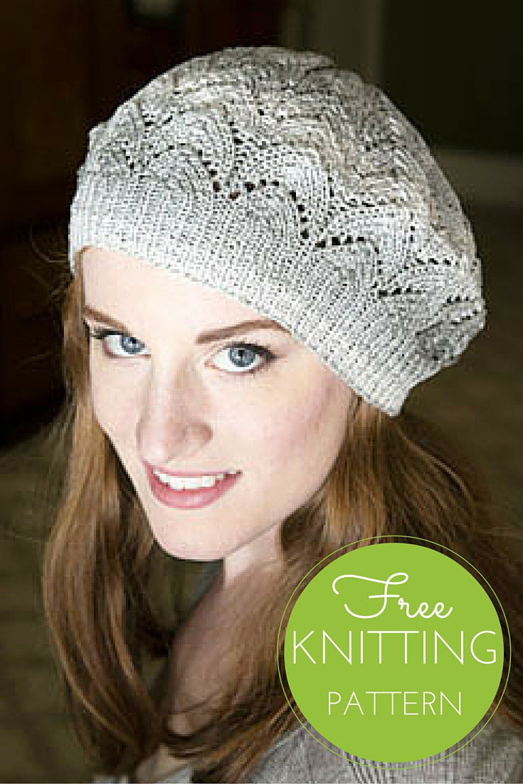 Beautiful Driftone Lace Beret Free Knitting Pattern — Blog Nobleknits Knit Beret Of Beautiful 41 Models Knit Beret