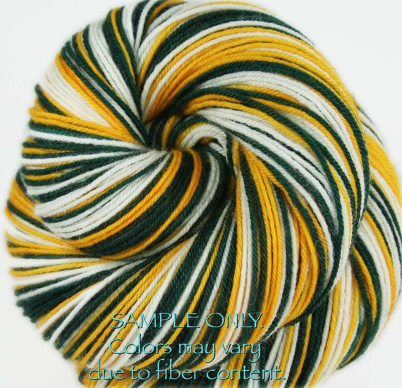 Beautiful Dyed to order Packers Self Striping sock Yarn Team Colors Yarn Of Top 44 Photos Team Colors Yarn