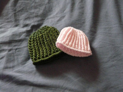 e Day at a Time Ribbed Crochet Preemie Hat