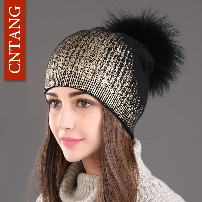 Beautiful ₪2017 New Winter Beanies ⊰ La S La S Knitted Wool Warm Ladies Knitted Hats Of Adorable 50 Pictures Ladies Knitted Hats