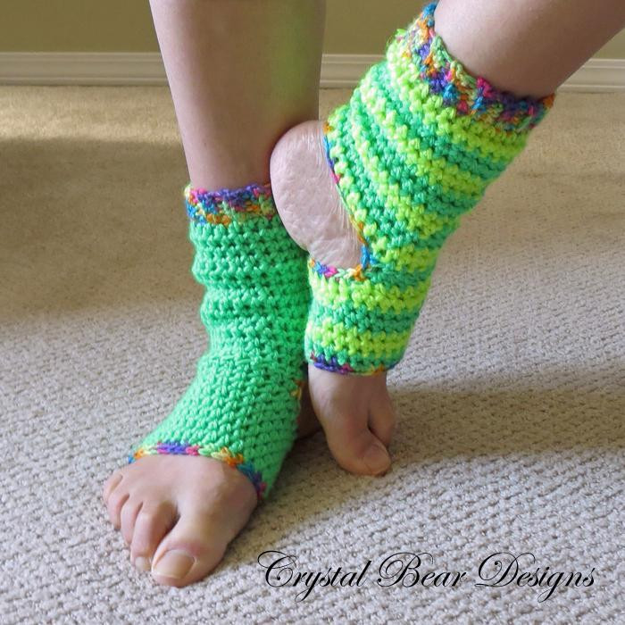 Beautiful Easy Crochet Yoga socks by Crystal Bear Designs Craftsy Crochet Yoga socks Of Brilliant 48 Pictures Crochet Yoga socks