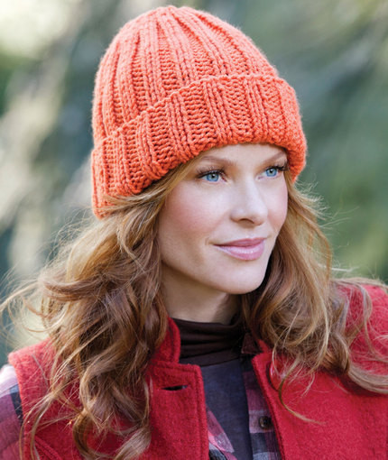 Easy Fit Ribbed Hat Free Knitting Pattern ⋆ Knitting Bee