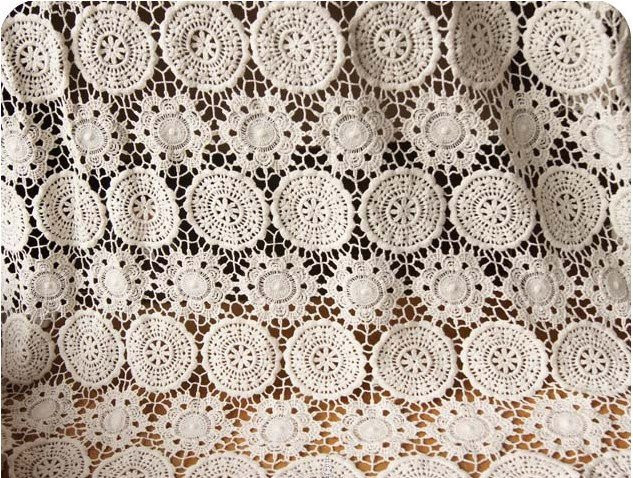 Ecru Cotton Lace Fabrics cotton guipure lace fabric cotto