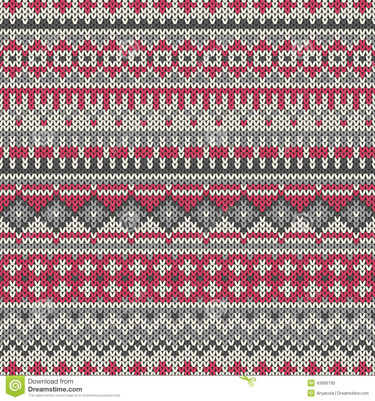 Fair Isle knitting patterns seamless knitted pattern in
