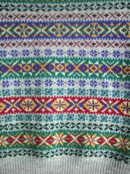 Fair Isle pattern from a great hand knit sweater creator