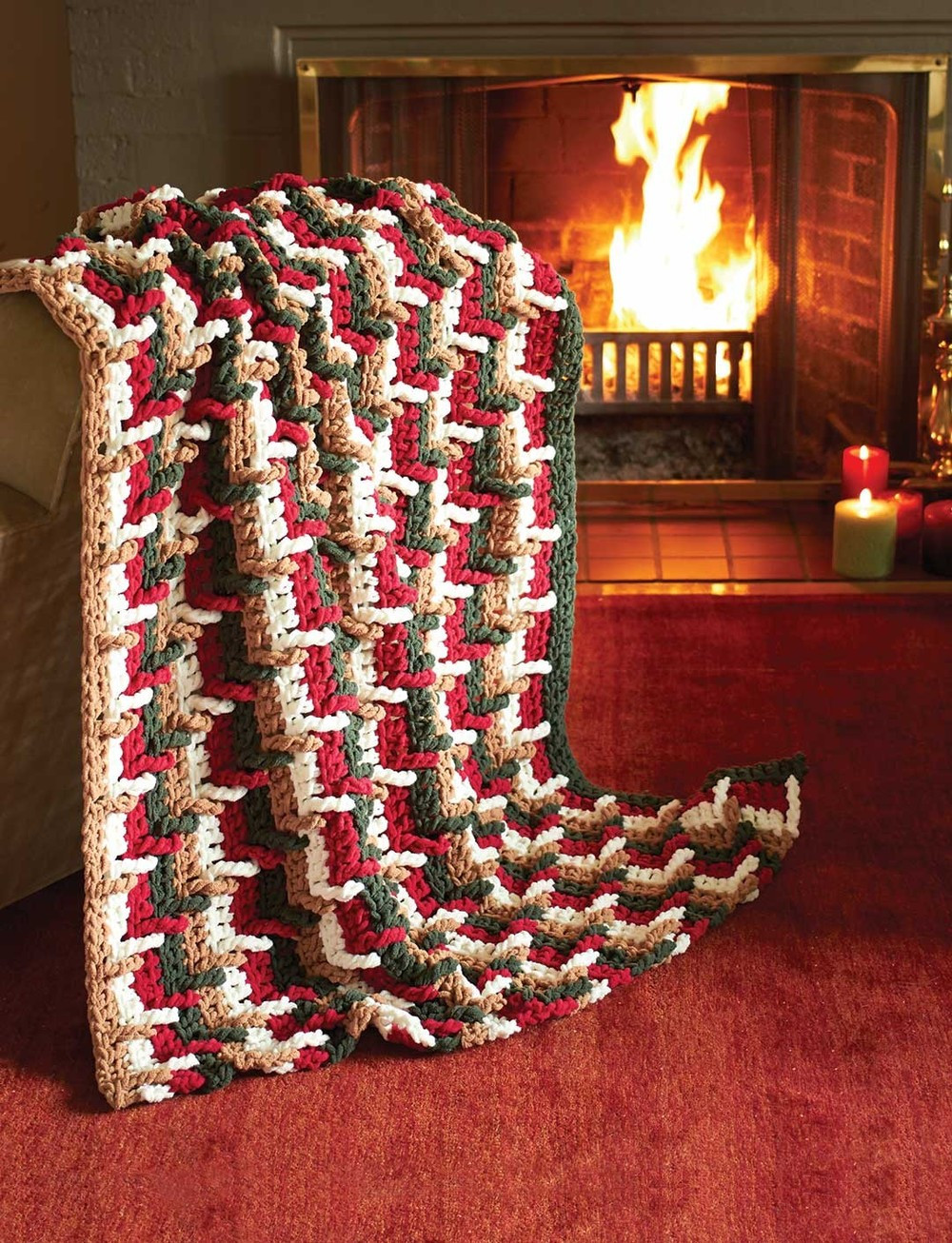 Beautiful Festive Step Ladder Throw Christmas Afghan Crochet Pattern Of Incredible 40 Ideas Christmas Afghan Crochet Pattern