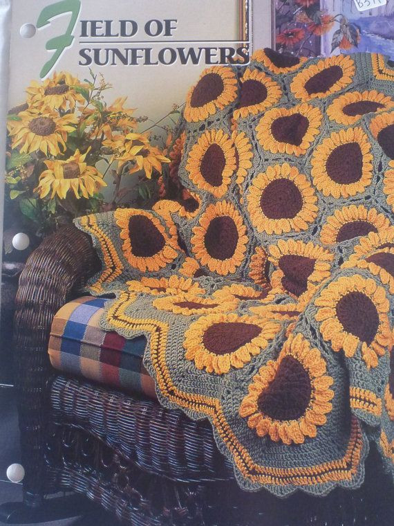 Beautiful Field Of Sunflowers Afghan Annie S Crochet & Afghan Club Sunflower Afghan Of Delightful 32 Pics Sunflower Afghan
