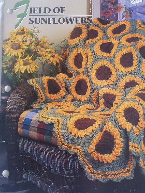 Beautiful Field Of Sunflowers Afghan Annie S Crochet & Afghan Club Sunflower Crochet Blanket Of Contemporary 48 Ideas Sunflower Crochet Blanket