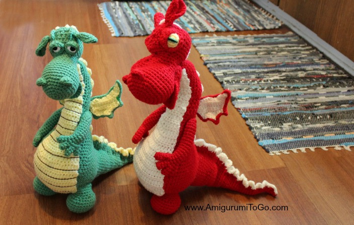 Beautiful Fierce or Sleepy Dragon Pattern Part E Amigurumi to Go Crochet Dragon Pattern Of Brilliant 50 Pictures Crochet Dragon Pattern
