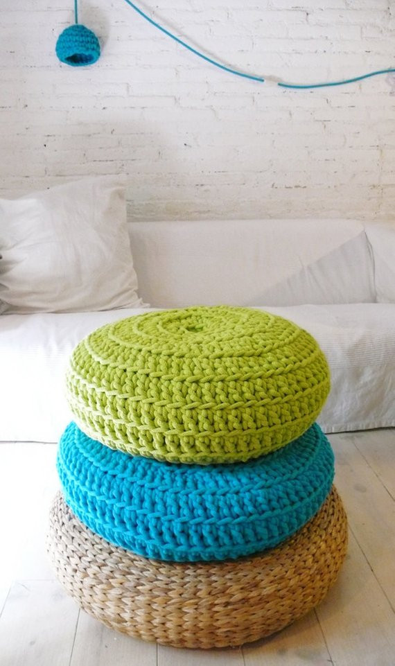 Beautiful Floor Cushion Crochet Giant Knit by Lacasadecoto On Etsy Crochet Floor Pouf Of Luxury 49 Pictures Crochet Floor Pouf