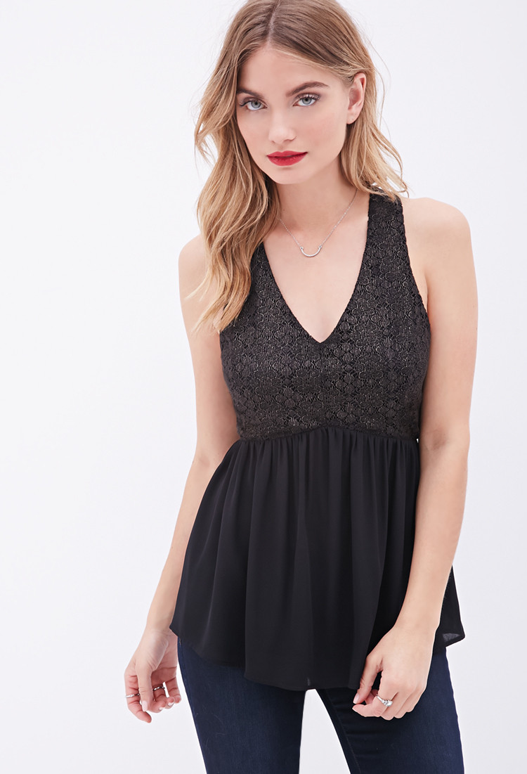 Beautiful forever 21 Contemporary Crochet top In Black Crochet tops forever 21 Of Amazing 46 Pics Crochet tops forever 21