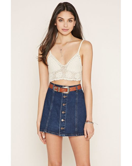 Beautiful forever 21 Crochet Crop top In White Cream Crochet tops forever 21 Of Amazing 46 Pics Crochet tops forever 21