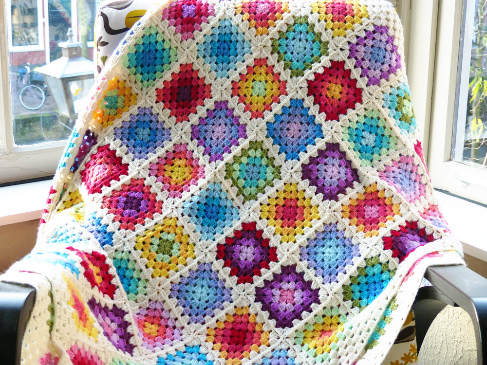 Beautiful Free Crochet Pattern Colourful Rainbow Granny Square Crochet Square Blanket Patterns Of Lovely 43 Pictures Crochet Square Blanket Patterns