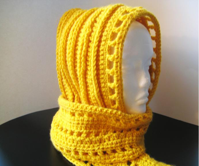 Beautiful Free Crochet Pattern for Women's Hat Mittens and Scarf Hooded Scarf Pattern Of Brilliant 43 Pics Hooded Scarf Pattern