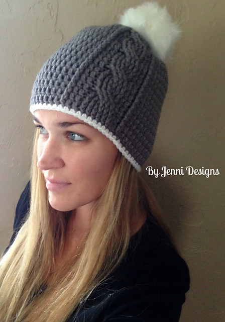 Free Crochet Pattern Women's Vertical Cable Beanie – Make