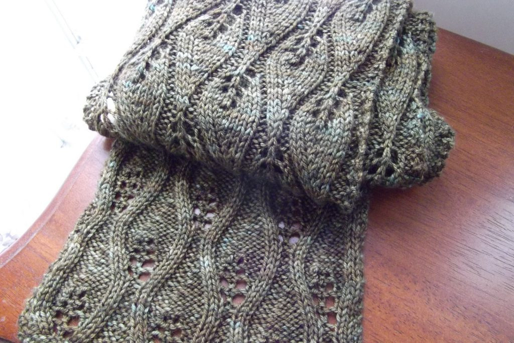 Free free lace leaf stitch scarf knitting patterns