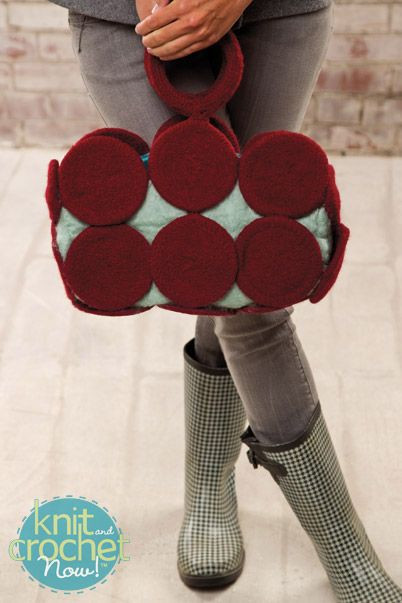 Beautiful Free Knitting Pattern Download This Felted Circle Purse Knit and Crochet today Of Innovative 49 Pics Knit and Crochet today