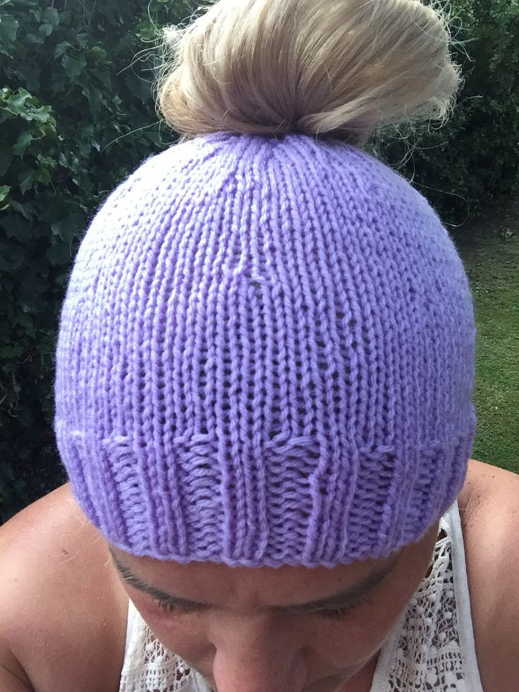 Beautiful Free Knitting Pattern for A Messy Bun or Ponytail Hat Free Knitting Pattern for Messy Bun Hat Of Delightful 40 Pictures Free Knitting Pattern for Messy Bun Hat
