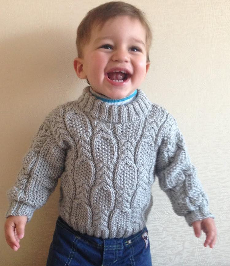Free Knitting Patterns Cable and Seed Stitch Baby Sweater
