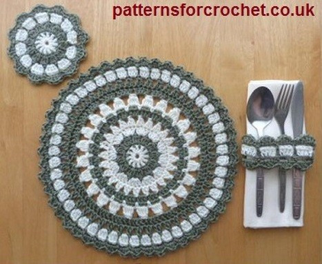 Beautiful [free Pattern] Crochet Pattern for Placemat Coaster Crochet Placemat Of Top 40 Pics Crochet Placemat