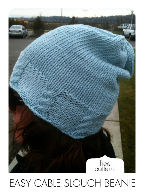 Beautiful Free Pattern Easy Cable Slouch Beanie Free Slouch Hat Knitting Patterns Of Wonderful 49 Pictures Free Slouch Hat Knitting Patterns