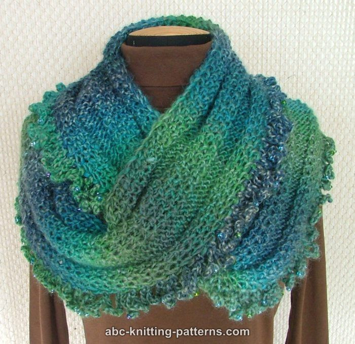 Beautiful Free Pattern Gypsy Cowl with Bead Ruffle Free Knitted Cowl Patterns Of Incredible 45 Images Free Knitted Cowl Patterns