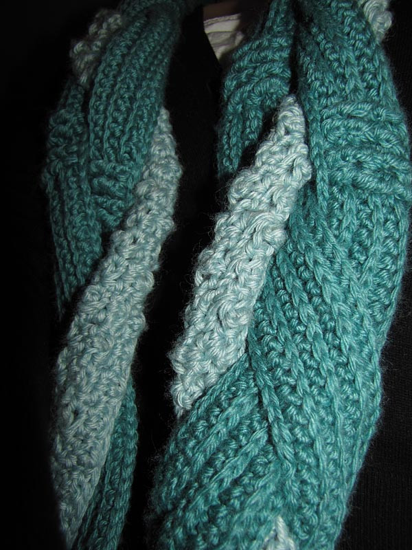 Free Pattern Hooked Holla Infinity Scarf