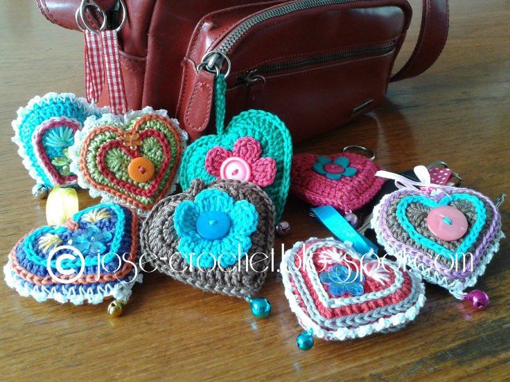 Beautiful [free Pattern] the Most Adorable Crochet Heart Keychain Crochet Heart Pattern Free Of Beautiful 40 Models Crochet Heart Pattern Free