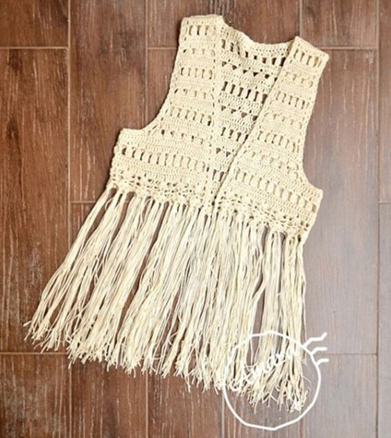 Beautiful Free Shipping Crochet Fringed Vest Lace Tank top Boho Crochet Vest with Fringe Pattern Of Brilliant 40 Images Crochet Vest with Fringe Pattern