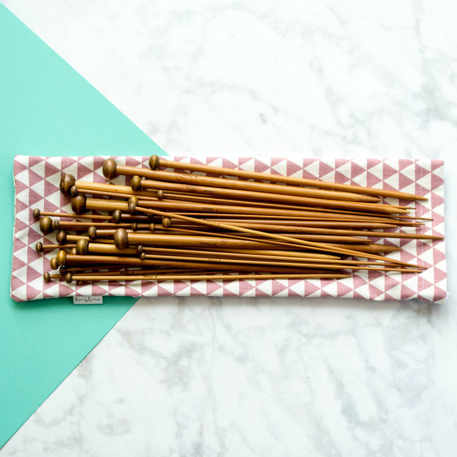 full set of bamboo knitting needles by berylune