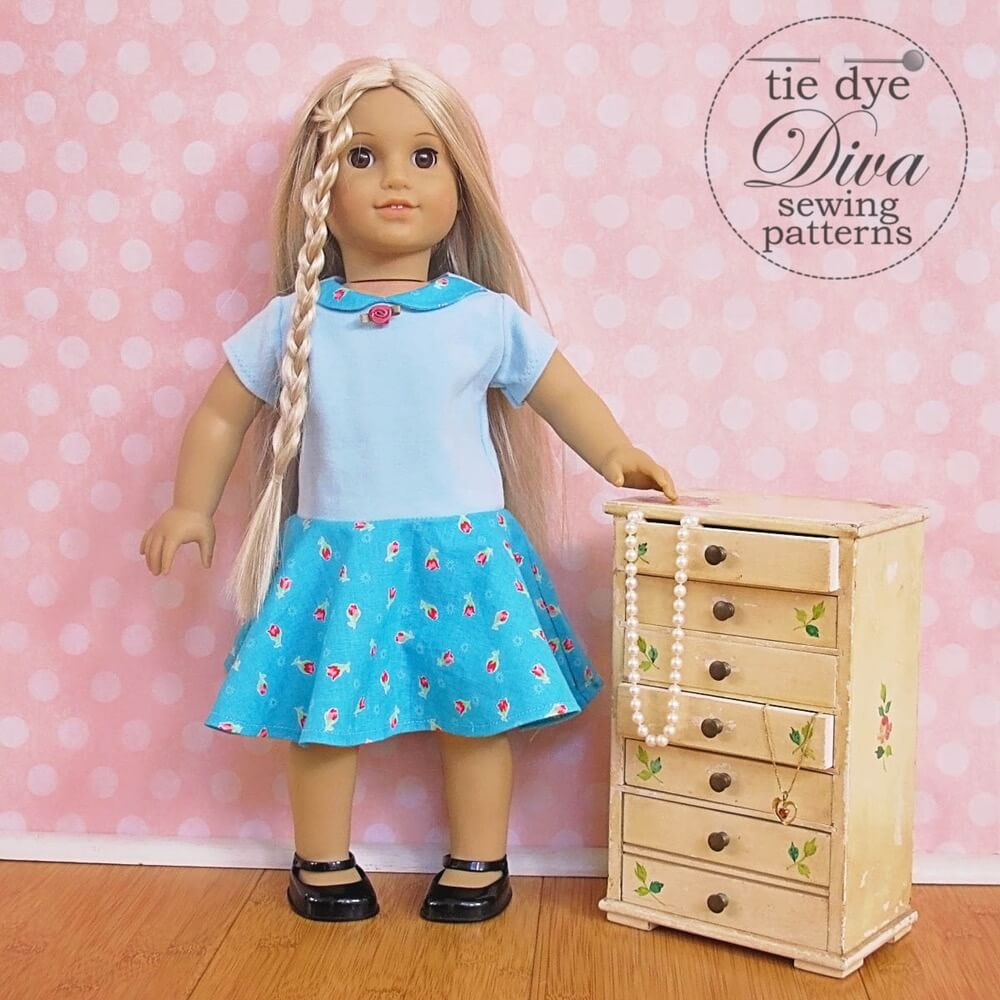 Beautiful Garnet Dress top and Skirt Pattern for 18″ Doll Like American Girl Doll Clothes Patterns Of Incredible 40 Images American Girl Doll Clothes Patterns