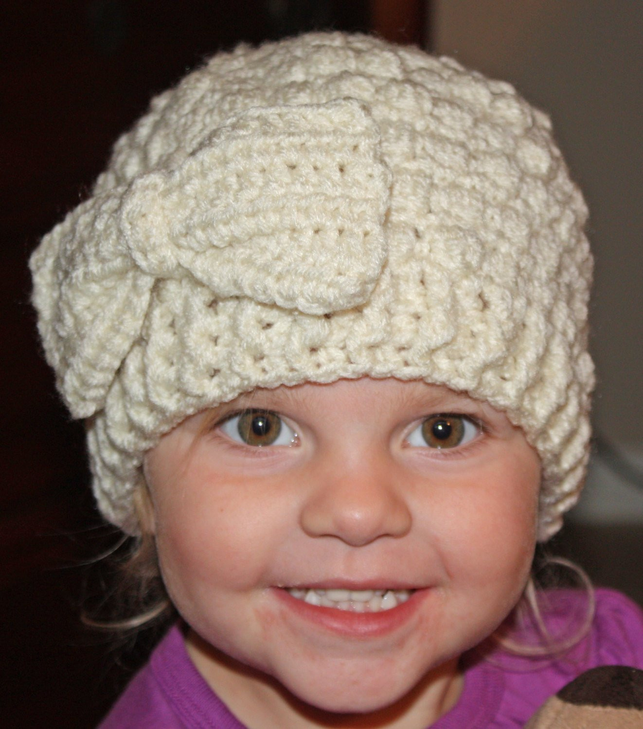 Beautiful Girls Crochet Puff Stitch Hat W Crochet Bow Puff Crochet Of Great 49 Ideas Puff Crochet