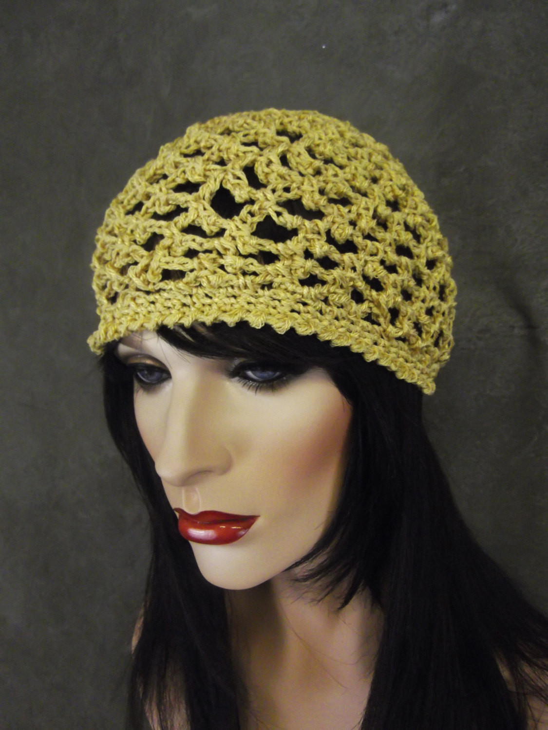 Beautiful Gold Cotton Skull Cap Crochet Skull Cap Cotton Yarn Crochet Skull Cap Of Great 43 Pics Crochet Skull Cap