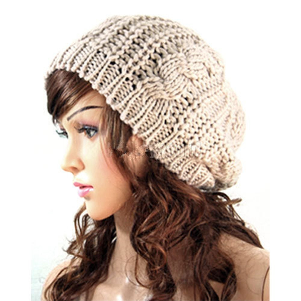 Beautiful Gorgeous Women S Knitted Crochet Slouch Baggy Beanies Just Ladies Knitted Hats Of Adorable 50 Pictures Ladies Knitted Hats