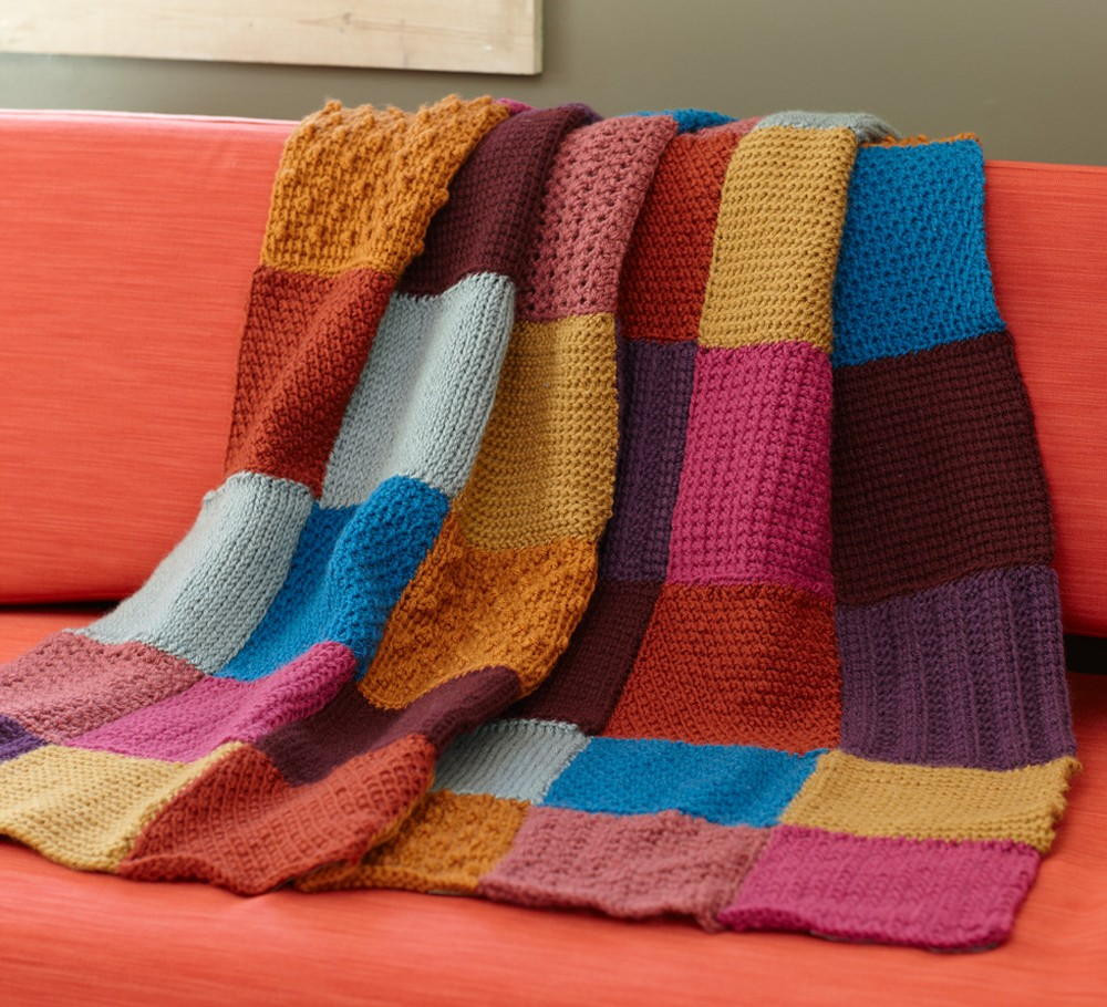 Beautiful Granny Square Tunisian Throw Afghan Squares Of Perfect 50 Ideas Afghan Squares