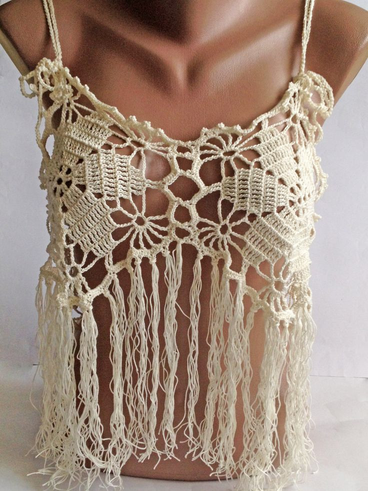 Beautiful Halter Summer top Bohemia top Crochet Lace top Festival Crochet Festival top Of Top 44 Ideas Crochet Festival top
