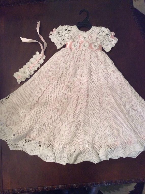 Beautiful Hand Crochet Heirloom Christening Gown Blessing Gown Baptism Christening Dress Patterns Of Awesome 43 Ideas Christening Dress Patterns