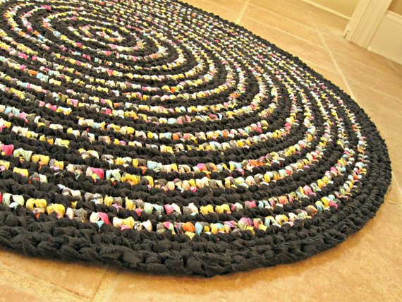 Beautiful Hand Crochet Round Rag Rug Vintage Look Large 3ft 39 Hand Crochet Rug Of Contemporary 41 Models Hand Crochet Rug