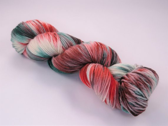 Hand Dyed Yarn e of a Kind Variegated Curious 150g