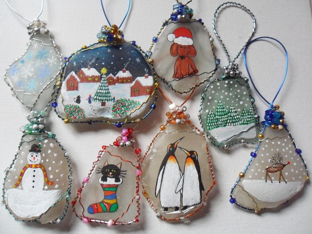Beautiful Hand Painted Sea Glass Christmas Tree Decorations Glass Christmas Decorations Of Elegant Blown Glass Christmas ornaments Glass Christmas Decorations