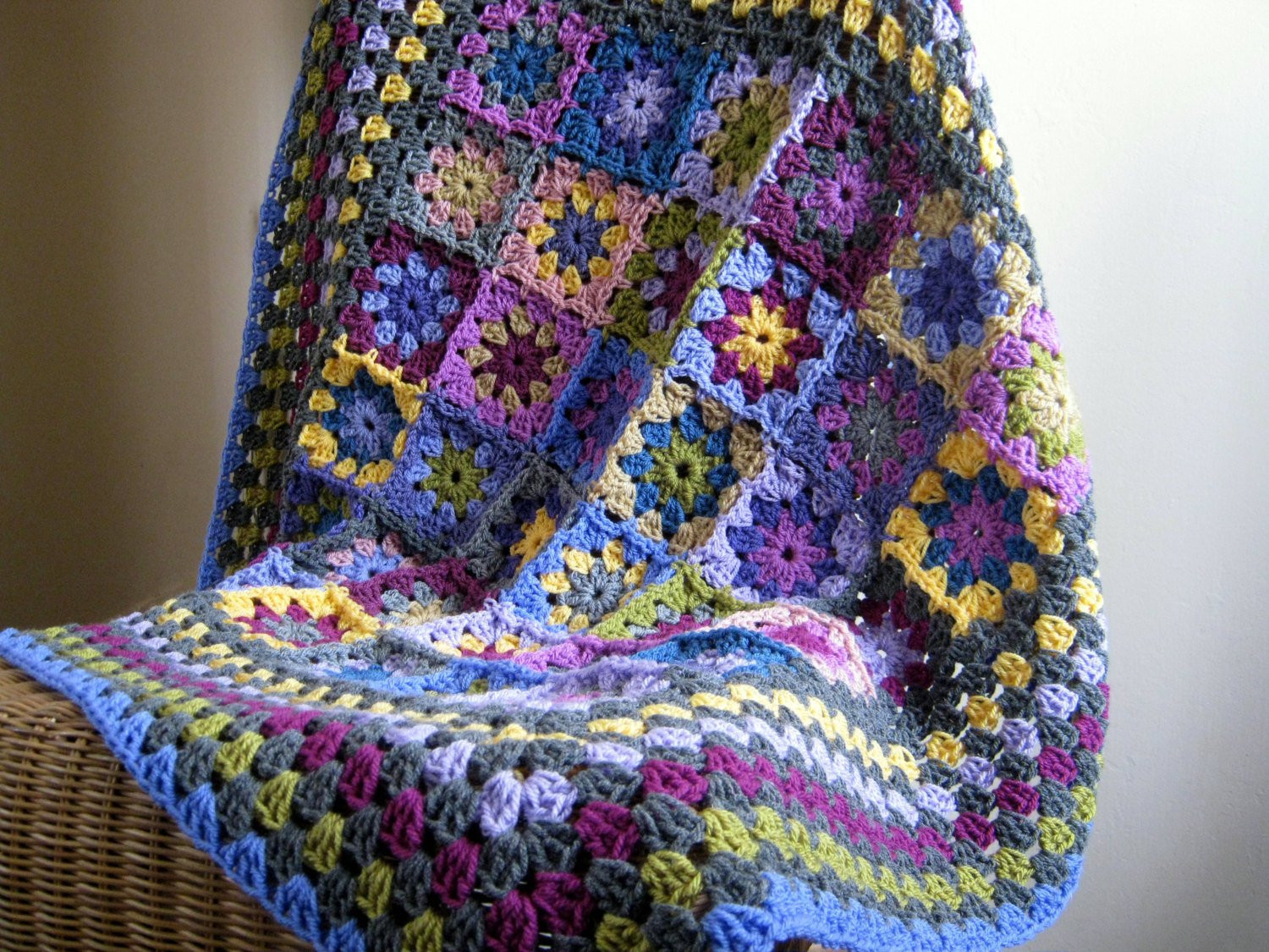 Beautiful Heather Crochet Blanket Kaleidoscope Flower Granny Squares Crochet Flower Square Of Brilliant 47 Models Crochet Flower Square