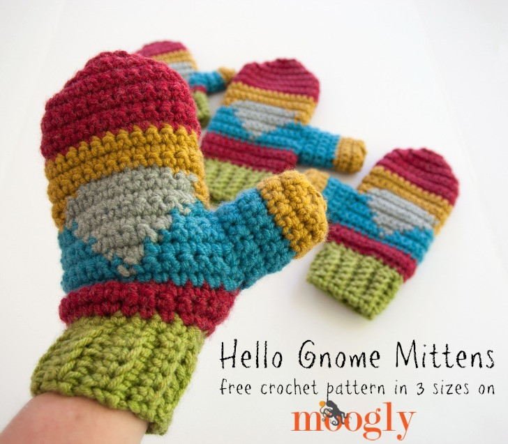 Beautiful Hello Gnome Mittens Free Crochet Pattern On Moogly Crochet toddler Mittens Of Awesome 41 Pictures Crochet toddler Mittens