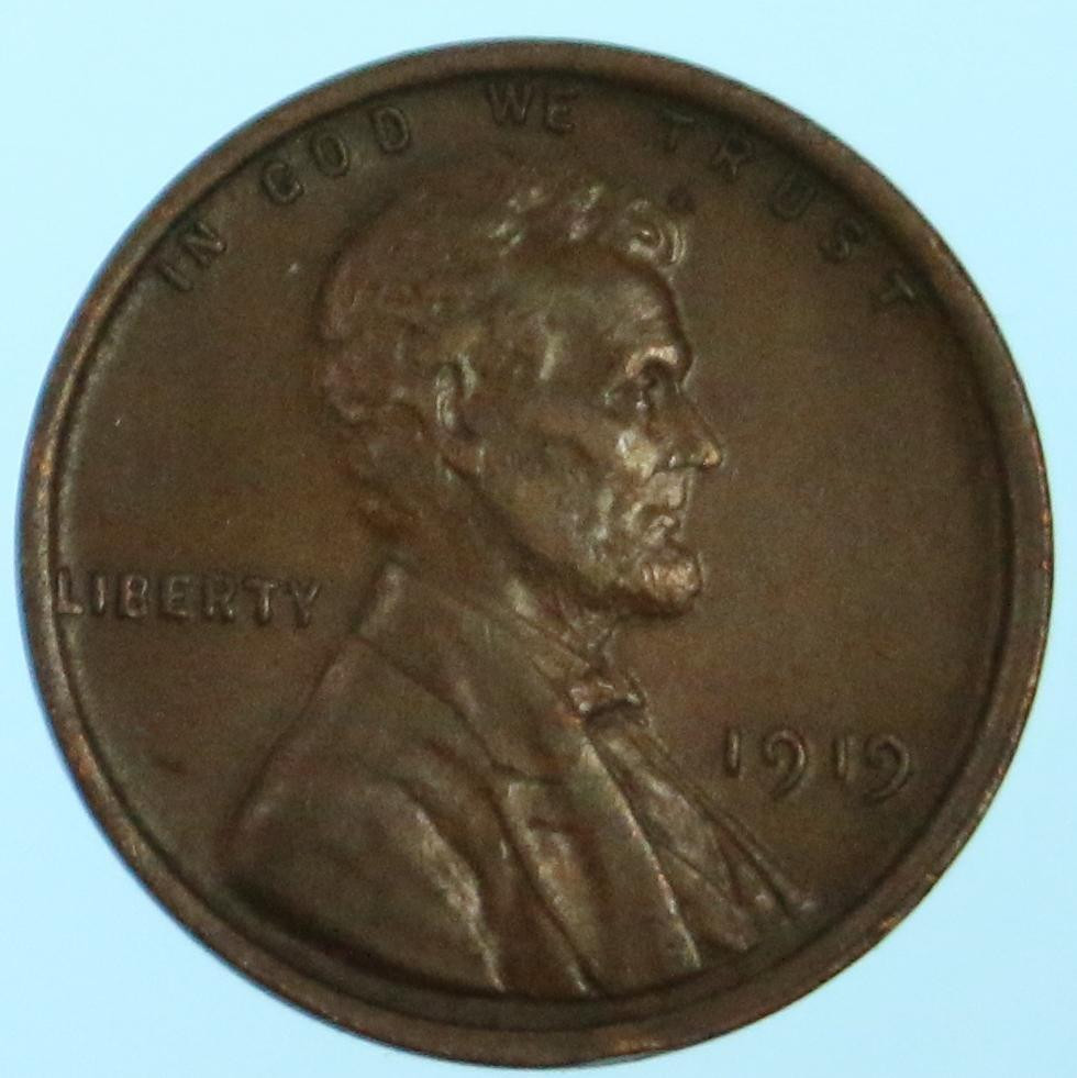 High Grade 1919 Lincoln Wheat Cent Early US Copper Penny