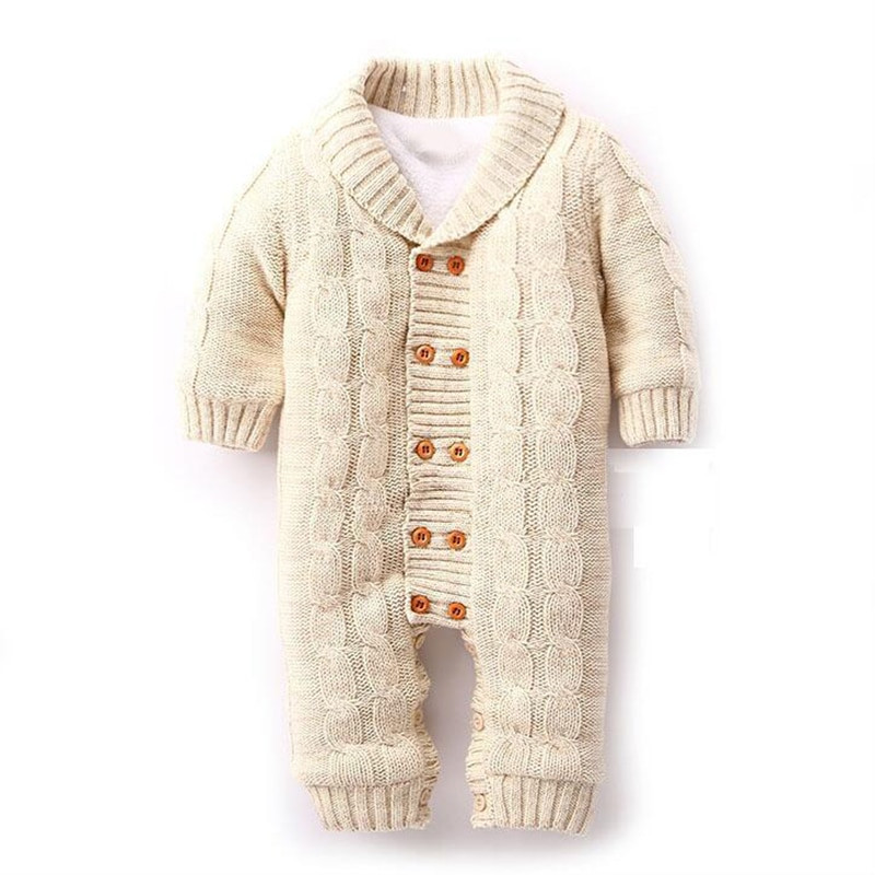 Beautiful High Quality Baby Knitted Rompers Thickening Sweater New Knitted Baby Romper Of Amazing 42 Ideas Knitted Baby Romper