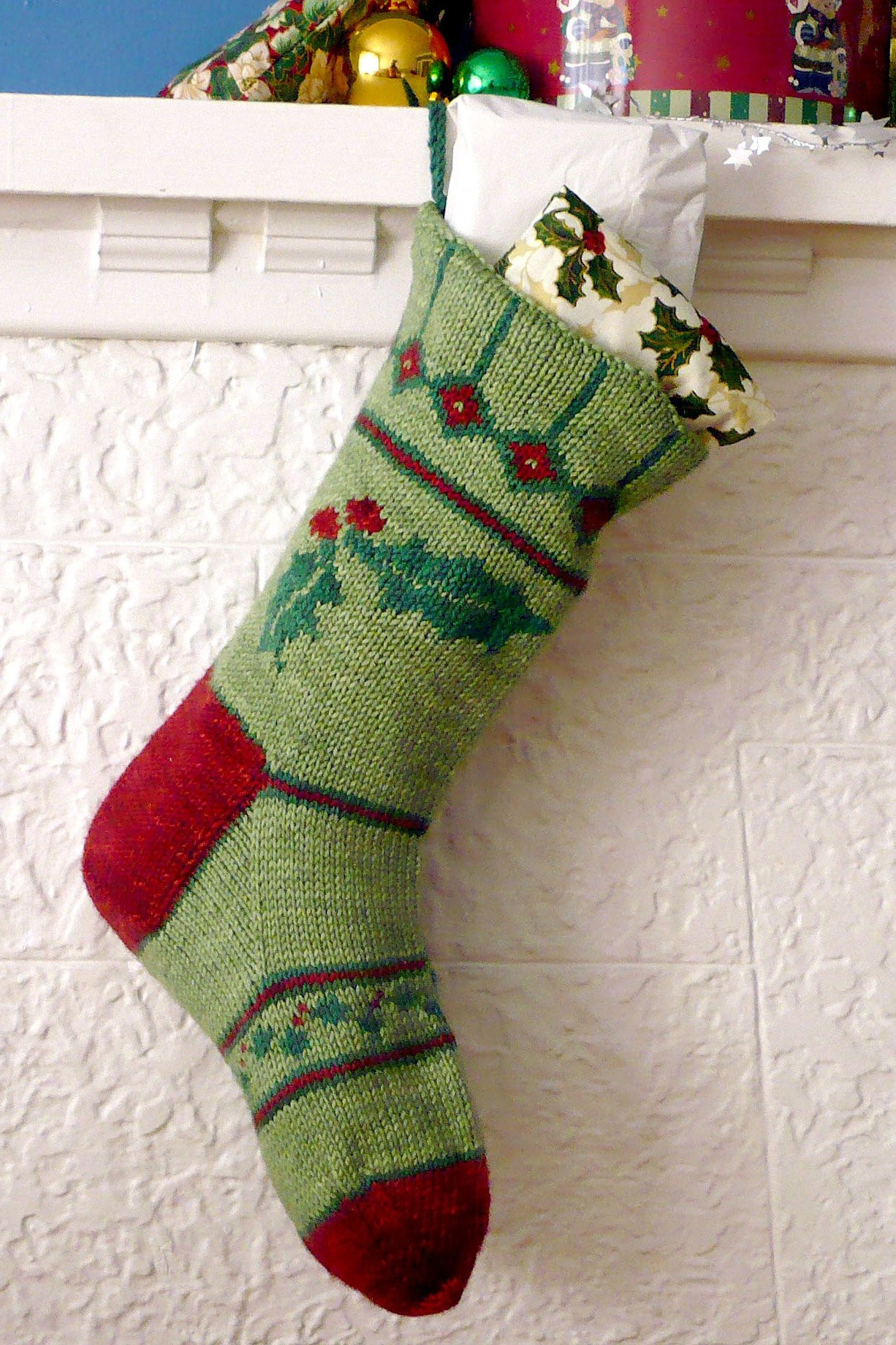 Beautiful Holly Christmas Stocking Knitting Pattern Sweet Paprika Knit Stocking Pattern Of Attractive 47 Pictures Knit Stocking Pattern
