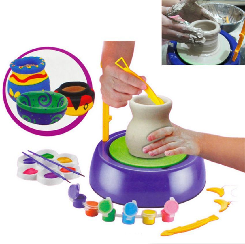 Home Arts Craft Discovery Kids Motorized Ceramic Pottery